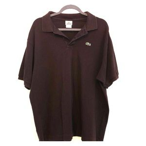 LACOSTE Polo Shirt Brown Men Size 9